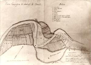 Canelli carta topografica dei Molini di Canelli 1781