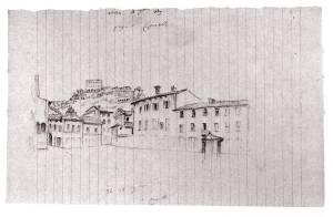 Canelli disegno C.  Rovere piazza 1849