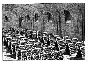 Canelli incisione cantine Gancia 1890
