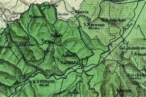 Canelli carta moscato di Canelli 1895 particolare