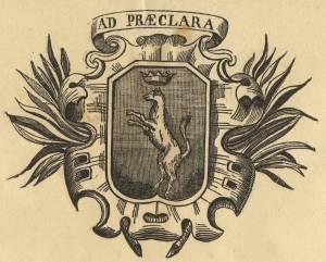 Canelli incisione stemma civico del 1869